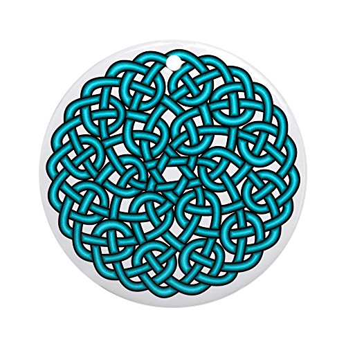 CafePress - Celtic Knotwork Ornament (Round) - Round Holiday Christmas (Renaissance Sca Trim)