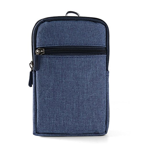 Portable Compact Point and Shoot Padded Blue Camera Case for Panasonic Lumix DC ZS70, DC FT7, 30X, DMC LX10K, GX85, ZS100, ZS60 and More