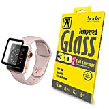 hoda [38mm] Glass Screen Protector for Apple Watch Series 3/2/1 [3D Full Coverage] Black