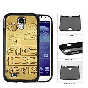 Egyptian Cat And Hieroglyphics Hard Plastic Snap On Cell Phone Case Samsung Galaxy S4 SIV I9500