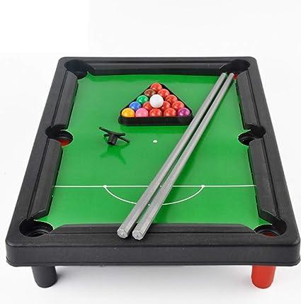 Mini Mesa De Billar, Billar para Niños Juego De Billar Juego De Billar En Miniatura Portátil De Mesa con 2 Tacos 16 Bolas para Mesa De Juegos Múltiples Al Aire Libre En