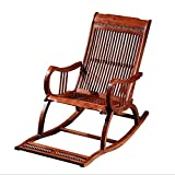 HENRYY Mahogany Rocking Chair New Chinese Living Room Furniture Balcony Easy Chair Recliner Chair Napping Massage Chair Solid Wood Rocking Chair