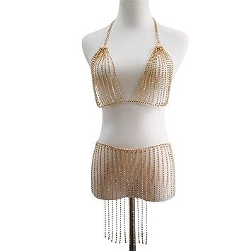 d82795153b94 Cadena del cuerpo Cadena sexy para mujer Moda para el cuerpo Sujetador  Sujetador Bikini Vestido de fiesta en la ...