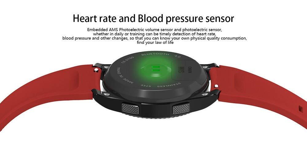 Smart klocka puls- och blodtrycksövervakning Cardable English Watch SVART