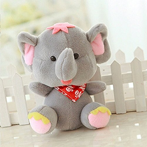 [18cm Elephant Plush Toys With Gift Soft PP Cotton For Kids Stuffed Dolls Wedding Birthday Gifts Baby Plush] (Van Gun X Sword Costume)