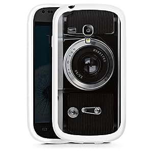 Silicona Carcasa blanco Funda para Samsung Galaxy S3 Mini - Snapshot