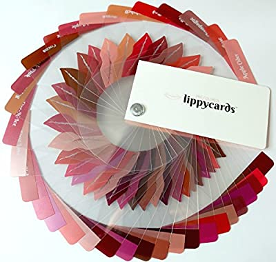 Pre Colored LippyCards Liquid Lipstick Sample Color Fan Deck