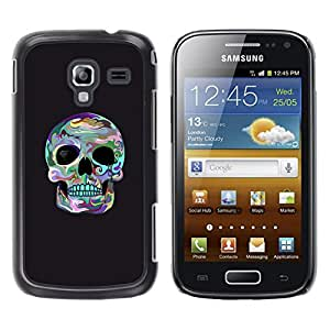 Shell-Star Arte & diseño plástico duro Fundas Cover Cubre Hard Case Cover para Samsung Galaxy Ace 2 I8160 / Ace2 II XS7560M ( Skull Surf Grey Cool Death Socket Eye )