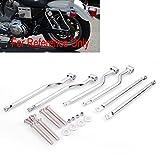Hot Sale Universal Fit Honda Yamaha Suzuki Kawasaki Harley Chrome Saddlebag Support Bars Brackets Set