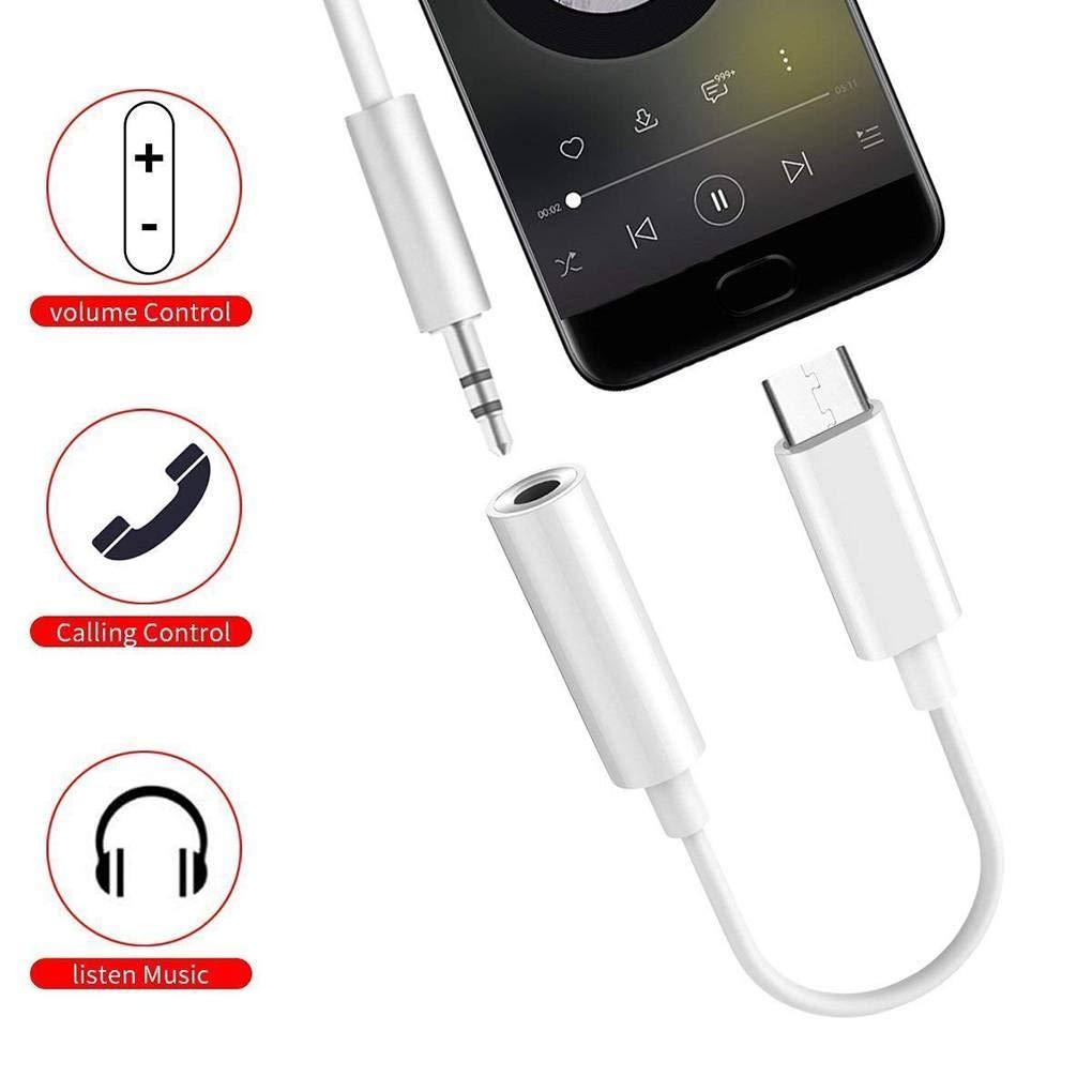 12,5 cm Tipo-C a 3,5 mm Cable de extensi/ón de Audio Conector Adaptador de Auriculares para Xiaomi convertidor de l/ínea Regard