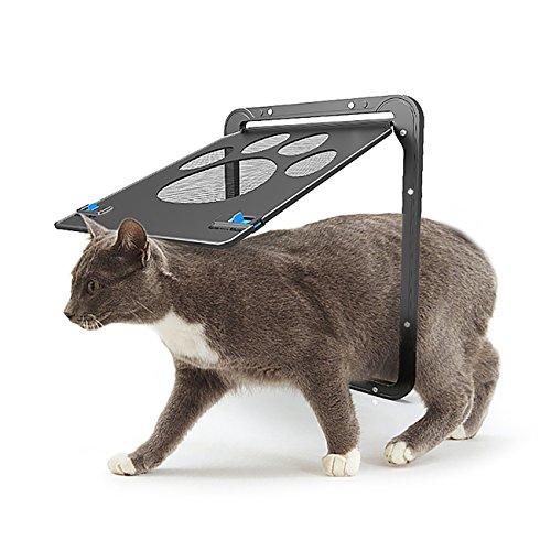 UHeng Magnetic Automatic Lock/Lockable Pet Screen Door cat Gate Way Pet Door for Screens (Storm Cat Door Door)