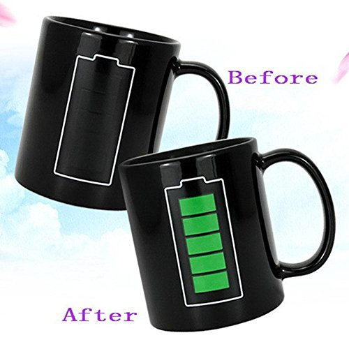 Heat Changing Mug Color Cup Coffee Sensitive Magic Hot Reactive Cold Ceramic YY