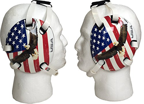 Eagle and US Flag Wrestling Headgear by 4-Time All American