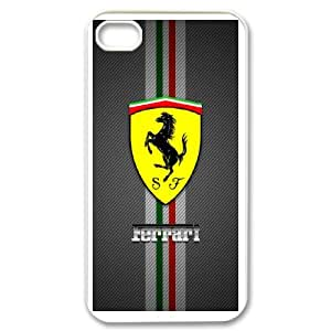 Diy Phone Cover Ferrari for iPhone 4,4S Send tempered glass screen protector WEW930269
