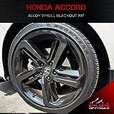 XPLORE OFFROAD - Accord Sport | Precut Alloy Wheels Chrome Delete Blackout Wrap Kit | 2018-2019