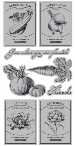 Autumn Leaves Cling Rubber Stamp 4.25X9.5/Pkg - Victory Garden