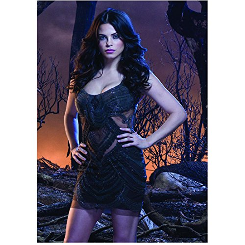 (Witches of East End (TV Series 2013 - 2014) 8 inch x10 inch Photo Jenna Dewan Tatum Short Black Dress w/Beading & Cutouts Hands on Hips kn)