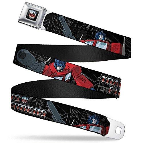 (Buckle-Down Seatbelt Belt - TRANSFORMERS Optimus Prime Poses/Autobot Outline - 1.5