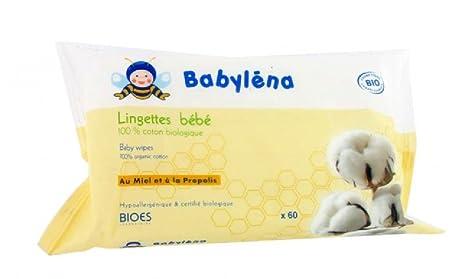 Lingettes 100% coton bio 60 lingettes