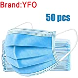 YFO 50 Pieces Hygiene And Protection Against Surgical Dust Waterproof Cover,high Filtration And Ventilation Security Blue