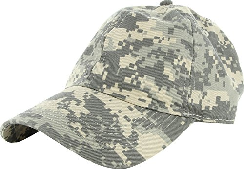 Plain 100% Cotton Adjustable Baseball Cap Grey Digital Camo ,Grey Digital Camo ,Adjustable ()