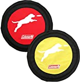 Coleman Dog Flying Disc Frisbee, Red/Yellow'