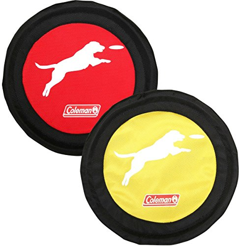 - Coleman Dog Flying Disc Frisbee, Red/Yellow'