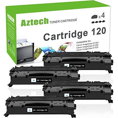 Aztech Compatible Toner Cartridge Replacement for Canon Cartridge 120 (Black, 4-Packs) (Black Toner 120 Cartridge)