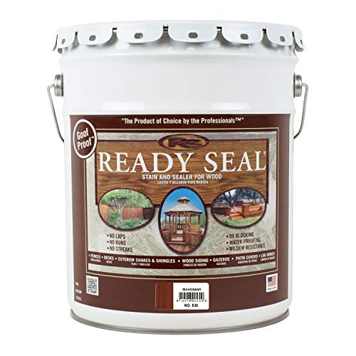 Dark Mahogany Stain - Ready Seal 530 5-Gallon Pail Mahogany Exterior Wood Stain and Sealer