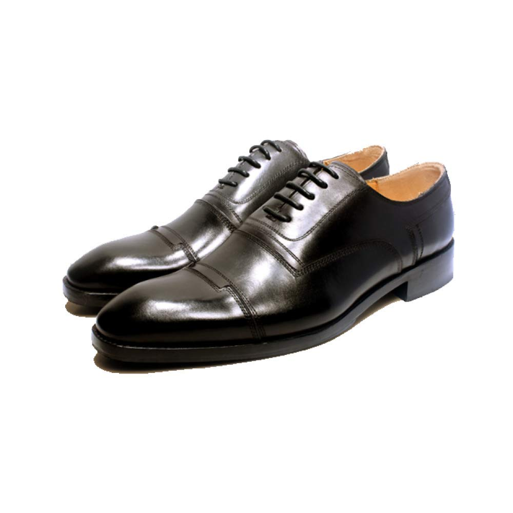 43356a9e83 Men Leather Shoes Handmade Custom Broch Carved Fashion High-end Wedding  Shoes Atmosphere, Black-40: Amazon.co.uk: Shoes & Bags