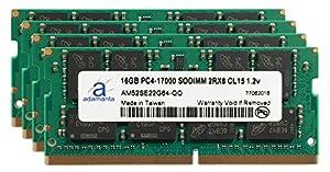 Adamanta 64GB (4x16GB) Laptop Memory Upgrade for Lenovo ThinkPad P50 Mobile Workstation DDR4 2133Mhz PC4-17000 SODIMM 2Rx8 CL15 1.2v Notebook DRAM