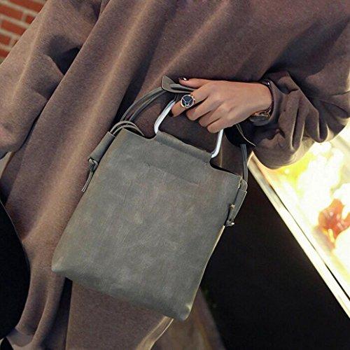 Bandoulière Esailq Hombro 001 De gris Piel 001 Femme Gris Sac Bolsa xUnXrBU