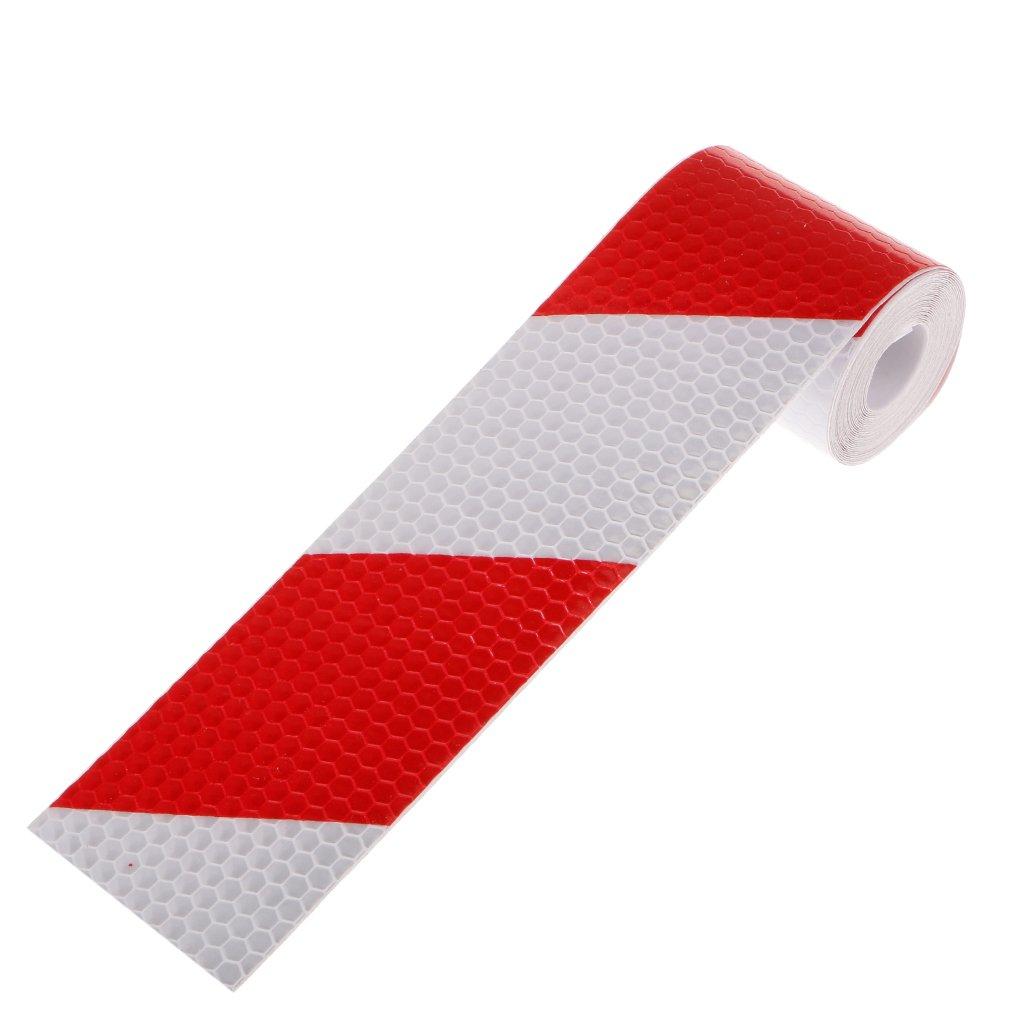 Adesivo Pellicola Nastro Conspicuity 3m Rosso Bianco Avviso Di Sicurezza Riflettente Generic