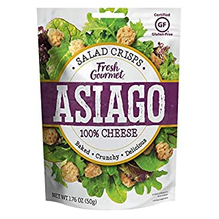 Fresh Gourmet Cheese Crisps, Asiago, Great for Snacking and Salad Topper, 1.76 Ounce