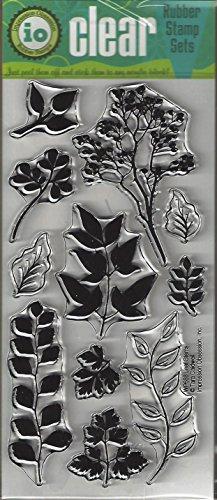 Impression Obsession Leaf Stems Cling Rubber Stamp WP688