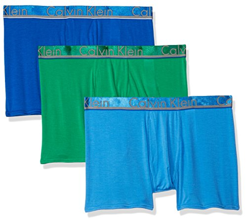 Calvin Klein Men's Underwear Comfort Microfiber Trunks, Skyview/Misty/Impulsive, Medium by Calvin Klein
