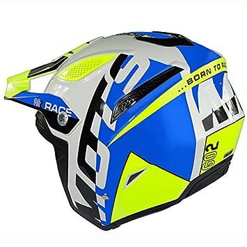 Mots Casco Trial GO2 RACE, Azul, XL, Azul/Fluo, Talla XL