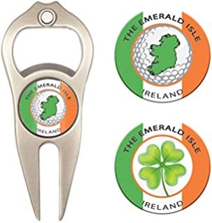 Hat Trick Openers 6-in-1 Golf Divot Tool & Poker Chip Marker Set
