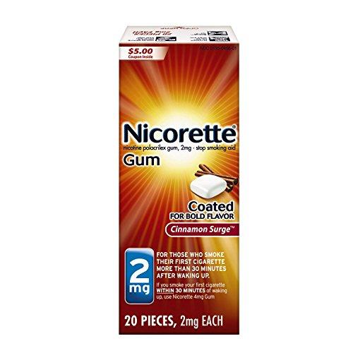 Cinnamon Surge Gum - Nicorette Nicotine Gum Cinnamon Surge 2 milligram Stop Smoking Aid 20 count