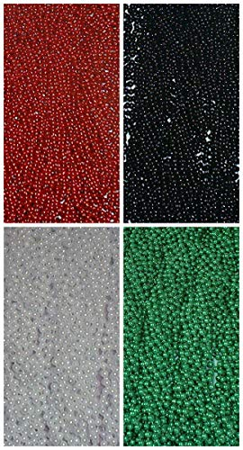 (48 Red Black White Green Mardi Gras Beads Falcons Eagles Playoffs)