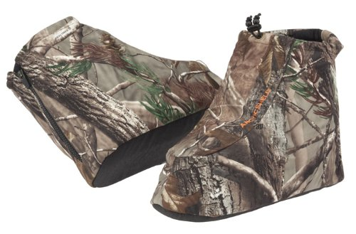 Onyx-Arctic Shield-X-System Men's Arcticshield Boot Insulators (RealTree All Purpose camo pattern, Large/boot size: (Arctic Shield Clothing)