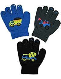 Boys Magic Stretch Gloves 3 Pair Pack Assortment