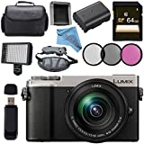 Panasonic Lumix DC-GX9 Mirrorless Micro Four Thirds Digital Camera with 12-60mm Lens (Silver) + 64GB SDXC Memory Card Bundle