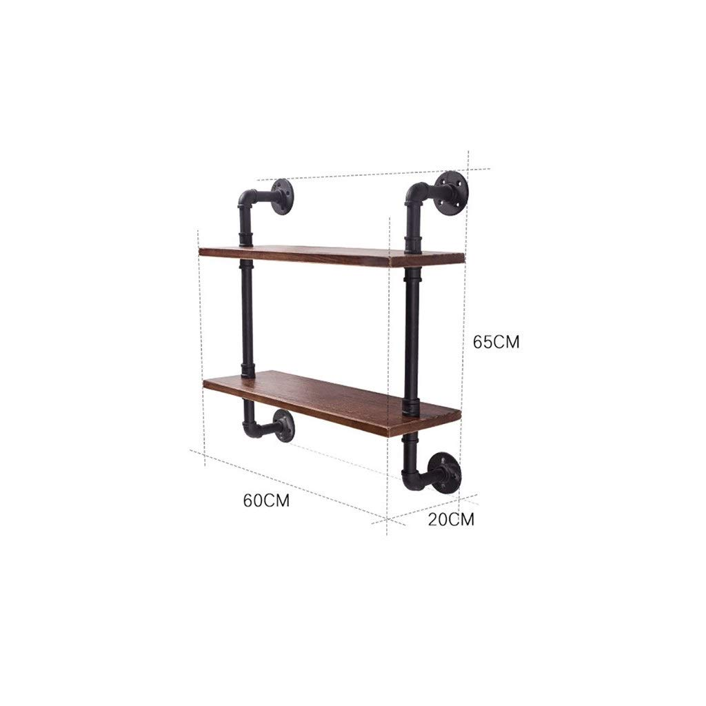 602065cm Iron Small Bookshelf, Retro Industrial Wind Wall Racks Simple Word partition TV Background Wall Decoration Multi-Function Rack (Size   87  20  56cm)