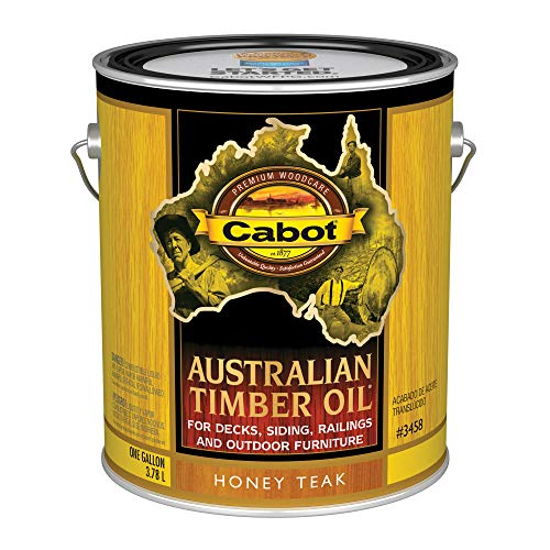 Cabot 140.0003458.007 Australian Timber Oil Stain, Gallon, Honey Teak Cabot Deck Stain Colors