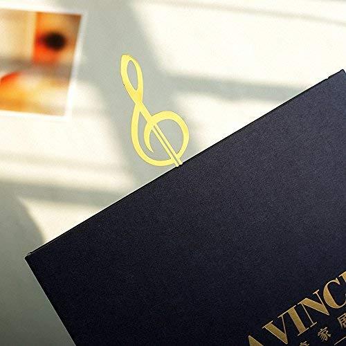 4 segnalibri a forma di strumenti musicali Amupper in acciaio inox placcato oro 18/K