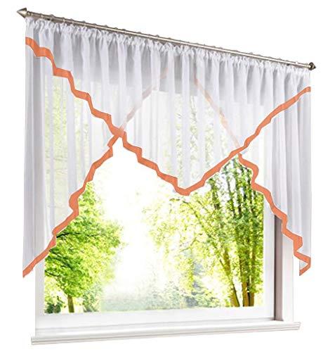 86 York 1 Piece Rod Pocket Sheer Voile Swag Roman Shade Kitchen Balcony Curtain Window Valance 47