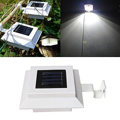 RoseBlue byRisa Garden Solar Fence Gutter 3 LED Light Super Bright Outdoor Yard Aisle Panel Lamp
