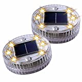 Water Fountain Lights Pond Pool Water Decor Solar Lights, Solar Gound Buried Light 6LED Warm 2PACK