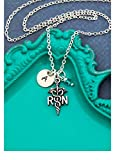 RN Registered Nurse Necklace – DII AAA - Thank You Gift – Handstamped